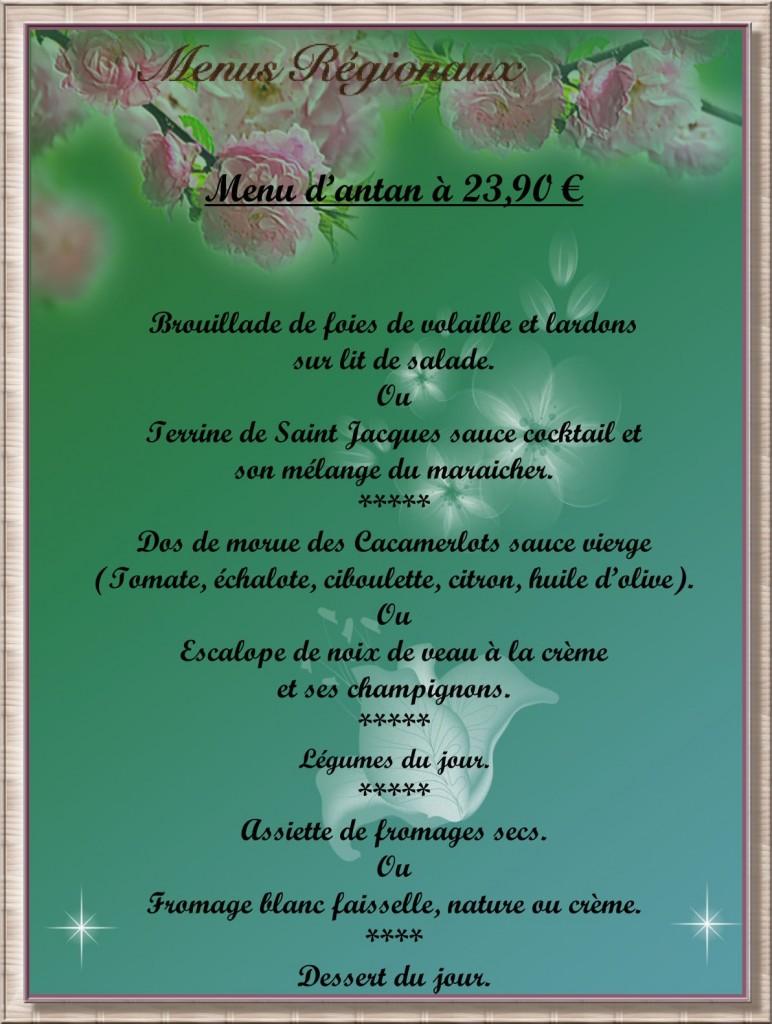 menu 2390cadre